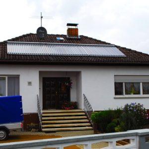 Bensheim - Solar + Kaminofen, Öl nur noch als Notheizung